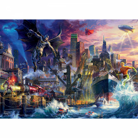 Batman Showdown at Gotham Pier 1000 Piece Puzzle