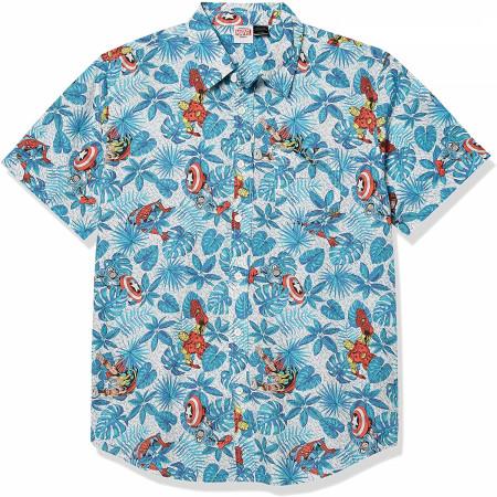 Marvel Avengers Button Up Hawaiian Shirt