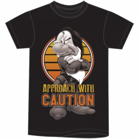 Grumpy Disney Character Caution T-Shirt