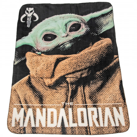 "Star Wars The Child Pixelated 45"" x 60"" Fleece Throw Blanket"