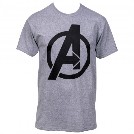 Avengers Symbol Heather Cool Grey Men's T-Shirt