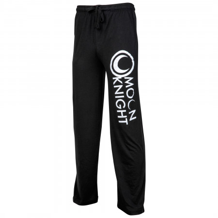 Moon Knight Symbol and Text Unisex Sleep Pants