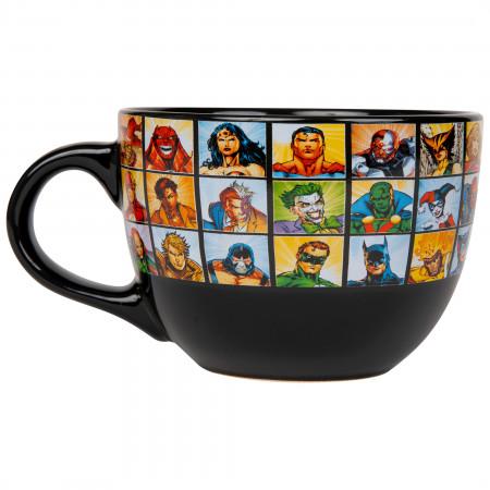 DC Characters Grid 24 Ounce Soup Mug