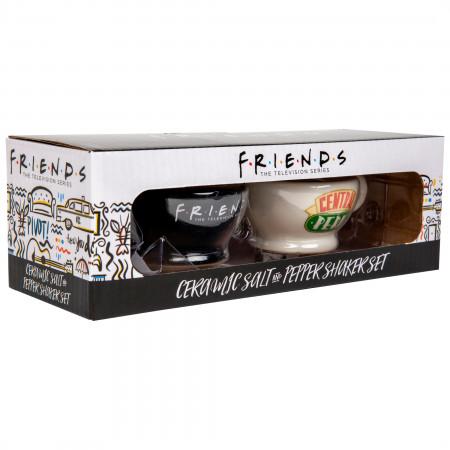 Friends Central Perk Mugs Black & White Salt & Pepper Shakers