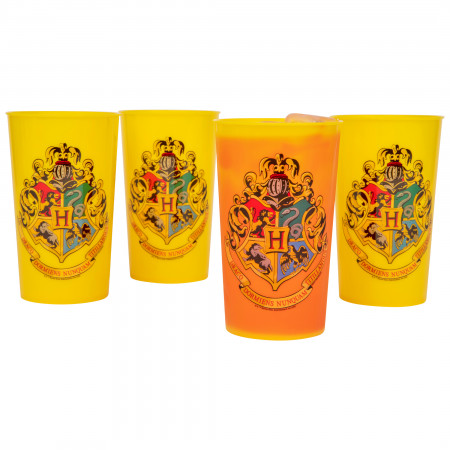 Harry Potter Hogwarts Crest 4-Pack of 20 Ounce Color Changing Cups