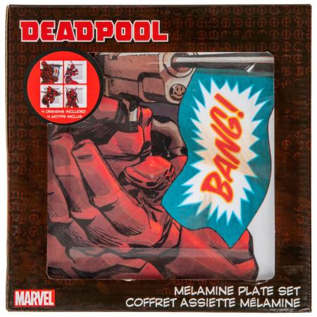 Deadpool Action Pose 4-Pack Plastic Plate Set