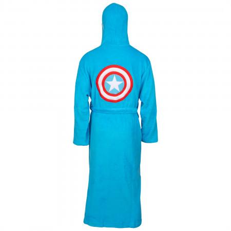 Captain America Marvel Fleece Hooded Bathrobe