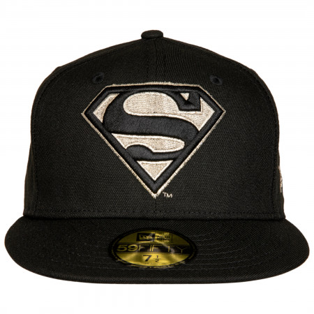 Superman Silver Symbol New Era 59Fifty Fitted Hat