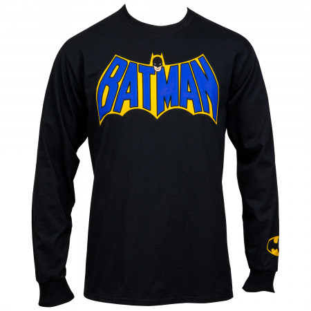 Batman Vintage Logo with Puff Print Long Sleeve