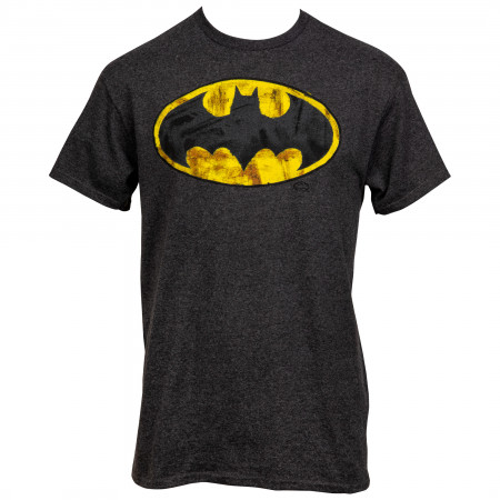 Batman Very Distressed Classic Logo T-Shirt