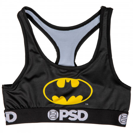 DC Batman Symbol Microfiber Blend Sports Bra