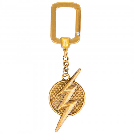 The Flash Justice League Gold Logo Keychain