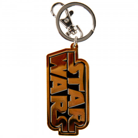 Star Wars Title Text Logo Pewter Keychain