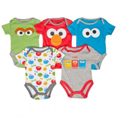 Sesame Street 5-Piece Infant Snapsuit Set