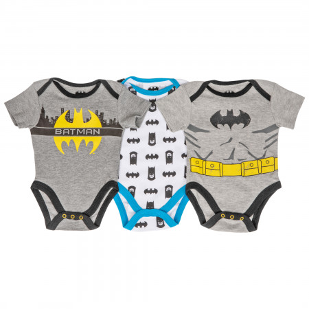 Batman Classic 3-Pack Infant Bodysuit Set
