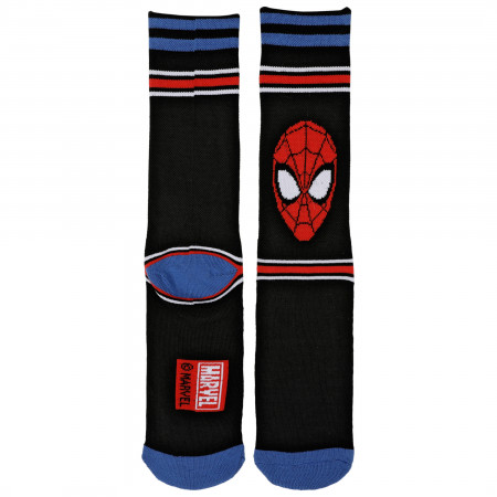 Spider-Man Face Waffle Cushion Crew Socks