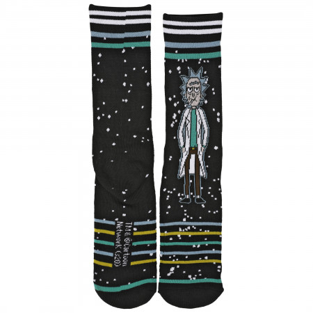 Rick & Morty Adult Swim Rick Waffle Cushion Crew Socks