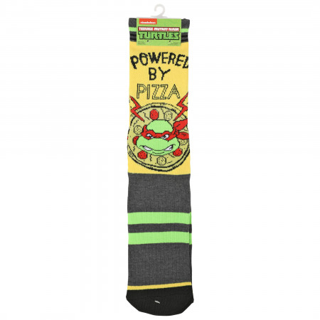 Teenage Mutant Ninja Turtles Powered By Pizza Waffle Cushion Crew Socks