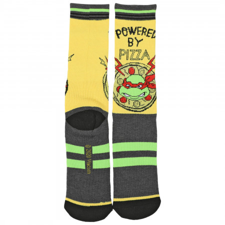 Teenage Mutant Ninja Turtles Powered By Pizza Waffle Cushion Crew Socks