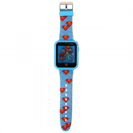 Superman Symbols All Over Accutime Interactive Kids Watch