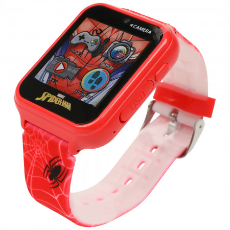 Spider-Man Miles Morales Logo Accutime Interactive Kids Watch