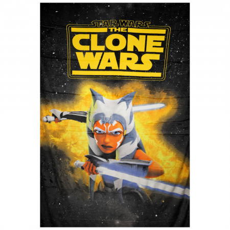 Star Wars Clone Wars Ahsoka Fierce Blanket