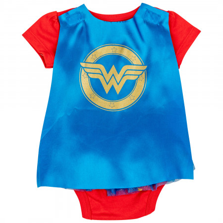 Wonder Woman DC Comics Symbol Snapsuit with Cape