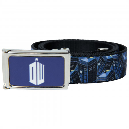 Dr. Who Big Tardis Blue Web Belt