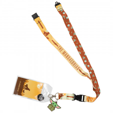 Star Wars Mandalorian The Child Character Lanyard With Charm