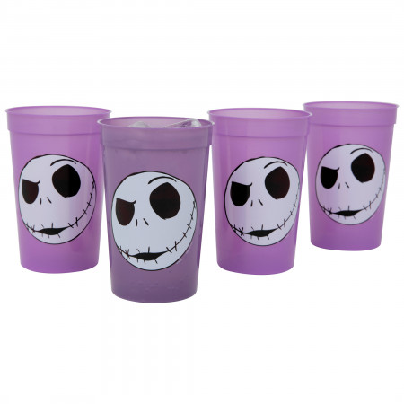 Nightmare Before Christmas Jack Face 4-Pack of 15oz Color Changing Cups