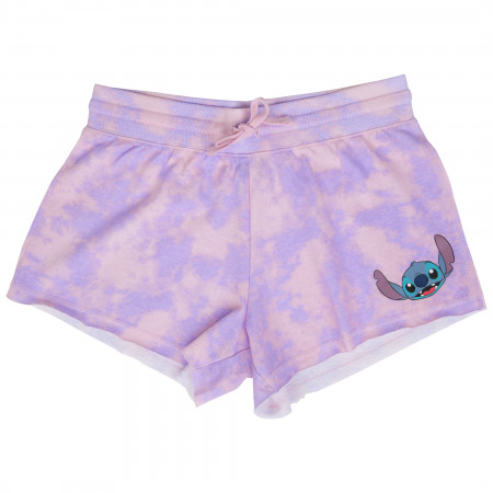 Lilo and Stitch Character Face Tie Dye Shorts