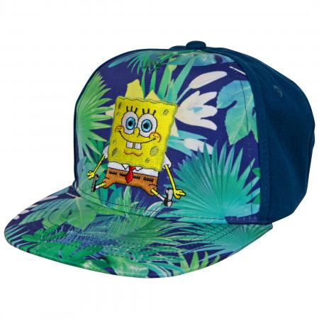 SpongeBob SquarePants Tropical Floral Skater Baseball Hat