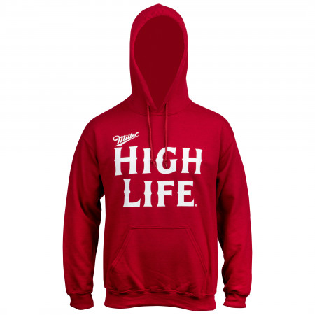 Miller High Life Text Logo Red Hoodie