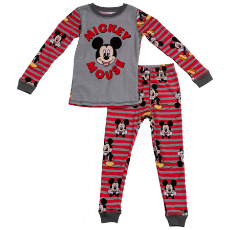 Disney Mickey Mouse Toddlers 2-Piece Thermal Pajama Set