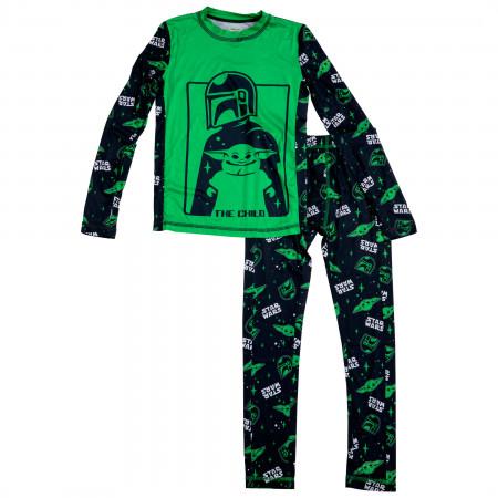 Star Wars The Mandalorian The Child Big Boys 2-Piece Pajama Set