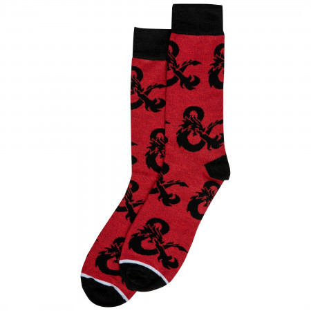 Dungeons and Dragons Symbols Crew Socks