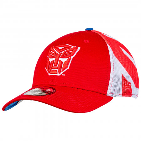 Transformers Autobots New Era 39Thirty Fitted Mesh Hat