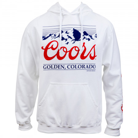 Coors Golden Colorado Mountain Logo and Sleeve Print Hoodie