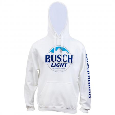 Busch Light Beer Logo White Colorway Hoodie