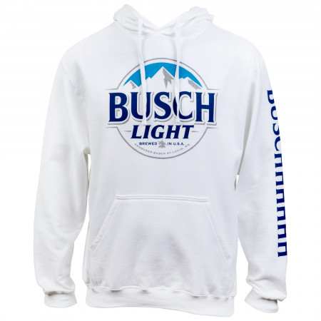 Busch Light Beer Logo White Colorway Hoodie