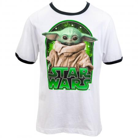 Star Wars The Mandalorian The Child Character Ringer Kids T-Shirt