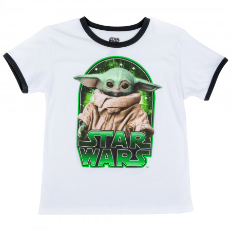 Star Wars The Mandalorian The Child Character Ringer Kids T-Shirt