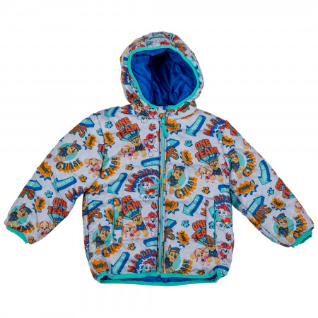 Paw Patrol Characters All Over Print Puffer Toddler Coat