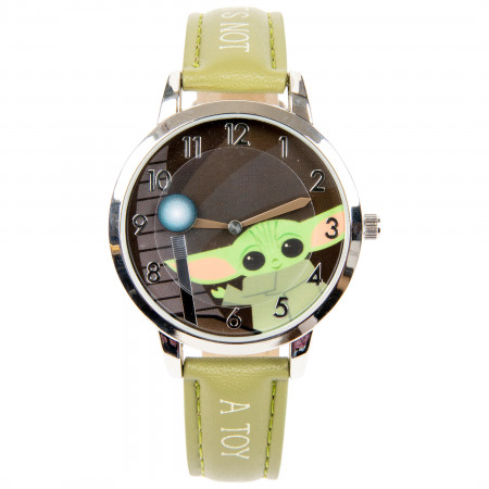 Star Wars Mandalorian The Child Its Not A Toy Rotating Disk Watch