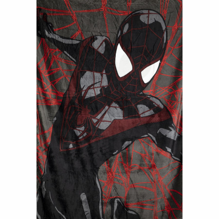 Marvel Miles Morales Spider-Man Webs New Kids Throw Blanket
