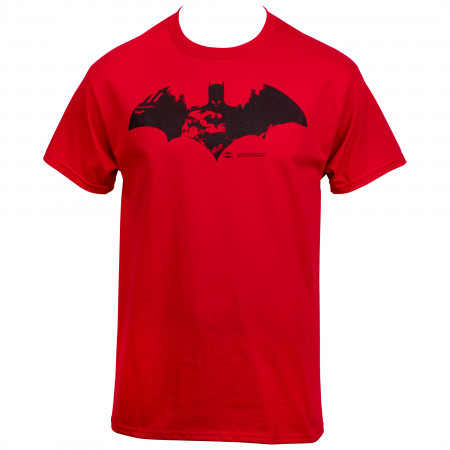 Batman Red City Symbol T-Shirt