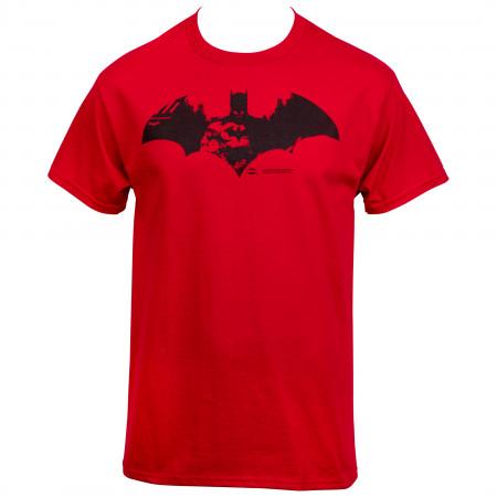 Batman Red City Symbol T-Shirt