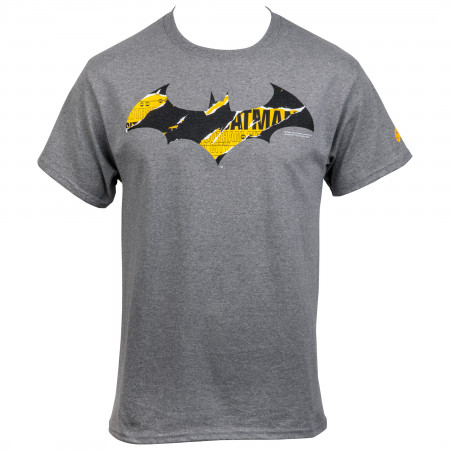 Batman At Work Distressed Symbol T-Shirt