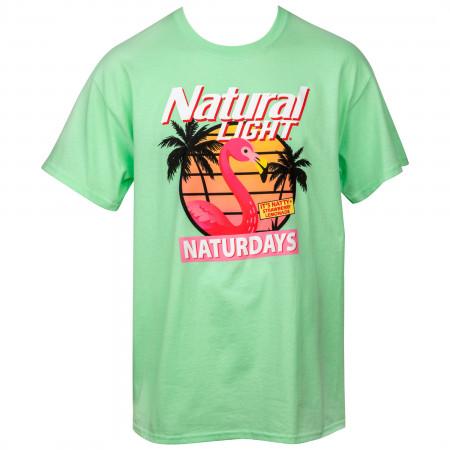 Natural Light Naturdays Flamingo T-Shirt