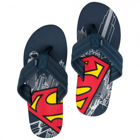 Superman Symbol Men's Flip Flops